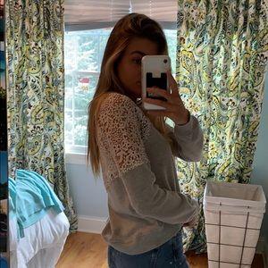 Lacey crop sweatshirt